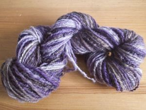 Purple chain plied yarn